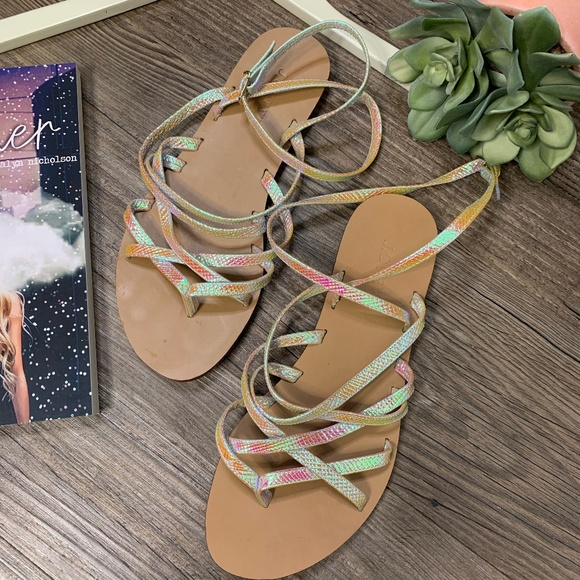 d210a0a6f437 J. Crew Shoes - J. Crew Clara Iridescent Sandals